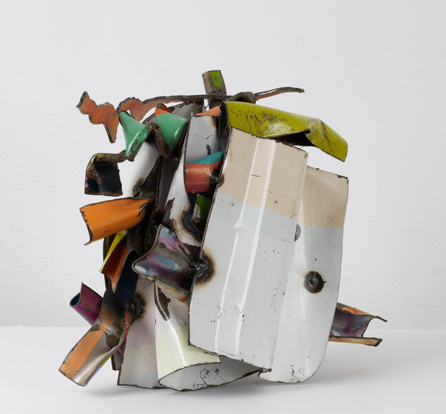 John Chamberlain, 'Swelling', 2009, Sculpture, Painted and chrome-plated steel, Gagosian