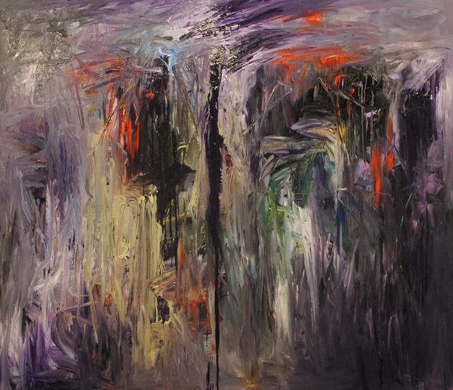 MD Tokon, 'Purple Rain', 2015, Painting, Acrylic on Canvas, Isabella Garrucho Fine Art