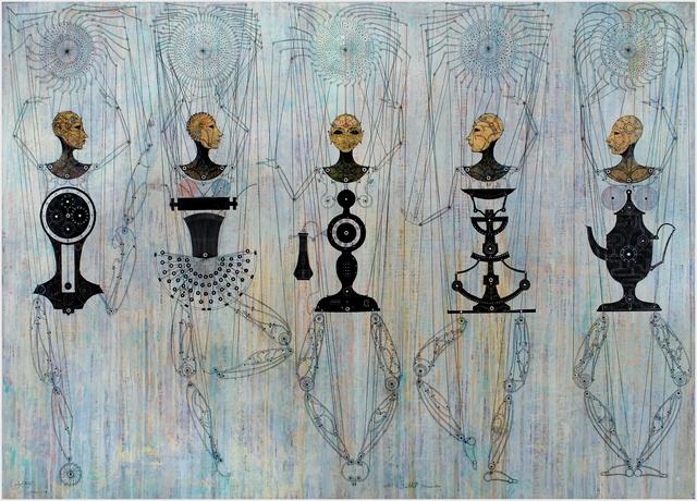 Carlos Estévez, 'Ballet Mecanico', 2009, Painting, Oil and pencil on canvas, Pan American Art Projects
