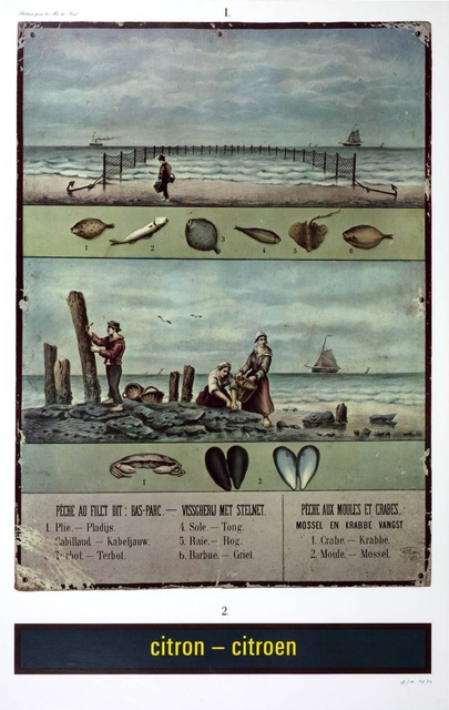 Marcel Broodthaers, 'Citron-Citroen, réclame pour la Mer du Nord (Advertisement for the North Sea)', 1974, Richard Saltoun