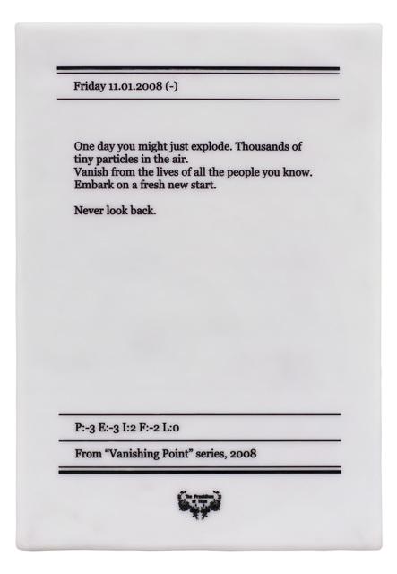 , 'Untitled (Friday 11.01.2008),' 2008, Art Encounters Foundation