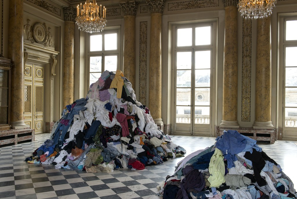 "Installation view, Christian Boltanski, ""Take Me (I'm Yours)"" at Monnaie de Paris (2015)"
