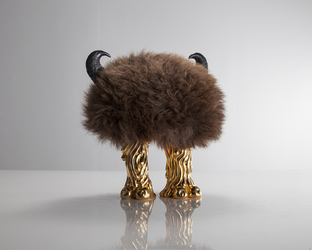 , 'Unique Jeff Farter Mini Beast in Buffalo hide with Coyote feet in gold-plated bronze and carved ebony horns,' 2015, R & Company