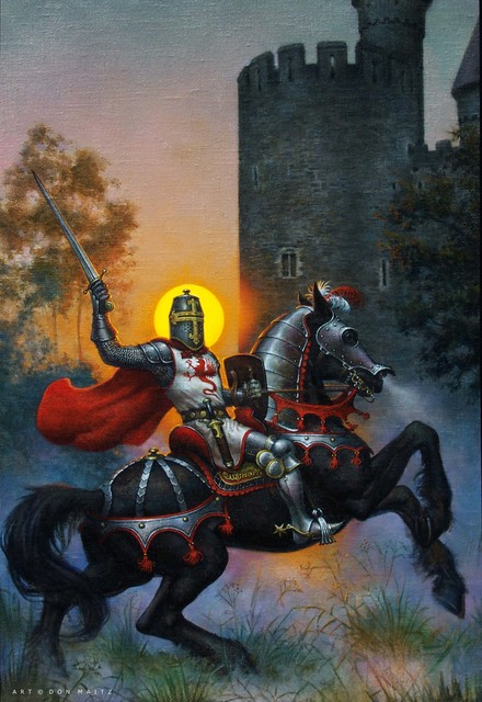 Don Maitz, 'Knight at Sunset', 1991, IX Gallery