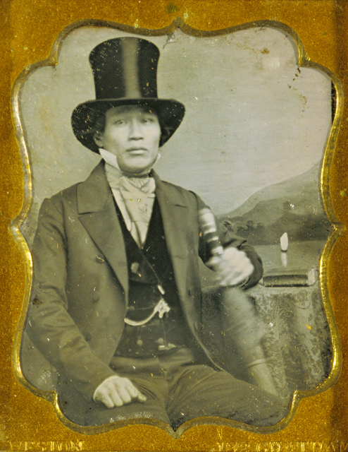 , 'Portrait of an Asian Man in Top Hat,' ca. 1856, J. Paul Getty Museum