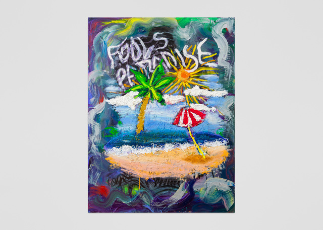 Vernon O'Meally, 'Fool's Paradise ', 2018, Painting, Acrylic and oil stick on canvas, ABXY