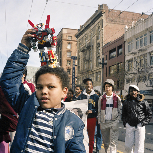 , 'Boy with Transformer, First Martin Luther King Day Parade, 1986,' 2018, EUQINOM Gallery