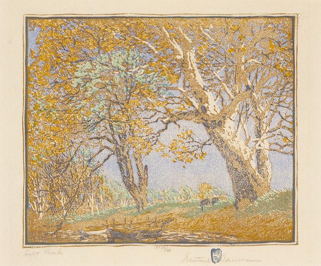 Gustave Baumann, 'Salt Creek', 1919, Print, Woodblock print, Gerald Peters Gallery