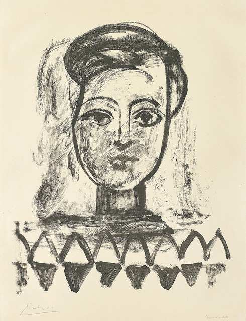 Pablo Picasso, 'Jeune femme au corsage à triangles (Young Woman with Triangle Bodice)', 1947, Print, Lithograph, on Arches paper, with full margins., Phillips