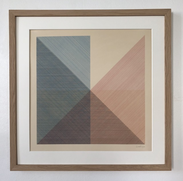 Sol LeWitt, 'Eight Squares with a Different Color in Each Half Square (Divided Horizontally and Vertically), plate #2', 1980, inch&cm
