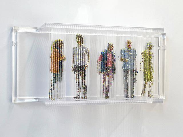Chris Dorosz, 'Stasis 138', 2020, Sculpture, Acrylic paint on plastic rods, Tangent Contemporary Art