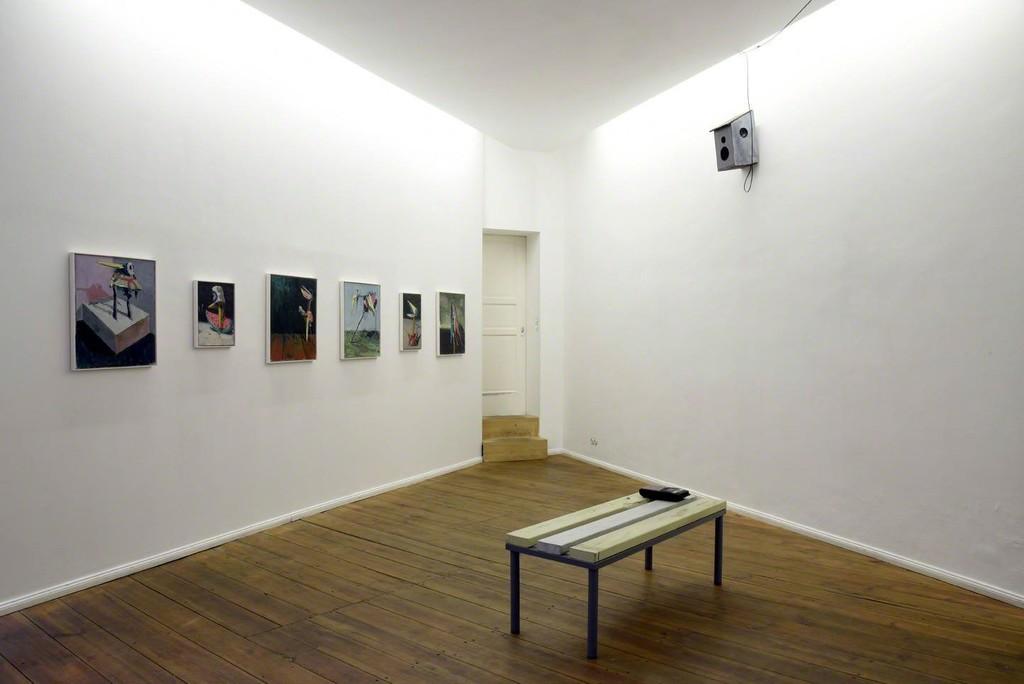 Fritz Bornstück, Vogelhaus Jazz III, 2016, installation view at Grimmuseum