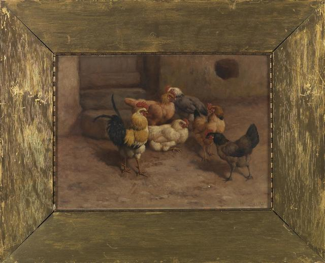 , 'Chickens (a pair),' 19th Century, Cross Gate Gallery