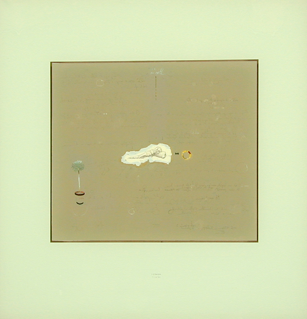 Philippe Favier, 'L'oeil', 1992, Painting, Peinture bois et collage sur verre, Wilde