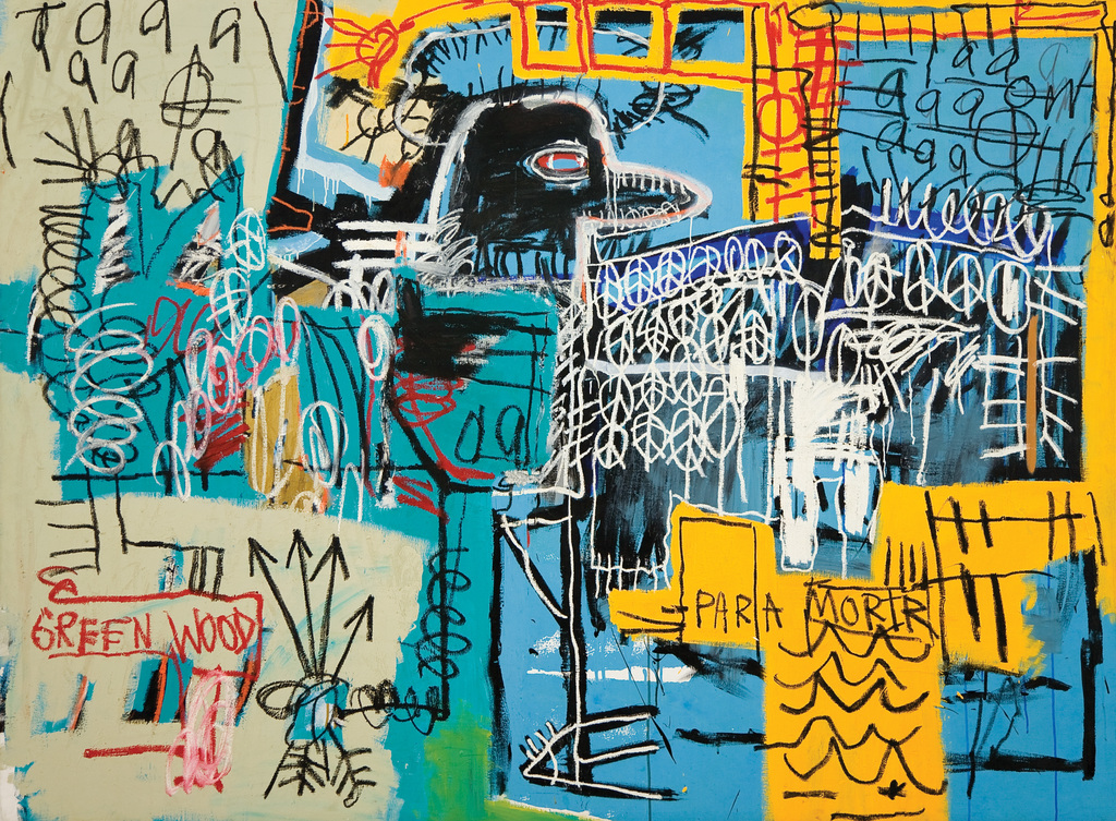 Jean-Michel Basquiat, Bird On Money, 1981, Acrylic and oil on canvas, Courtesy of Rubell Family Collection, Miami