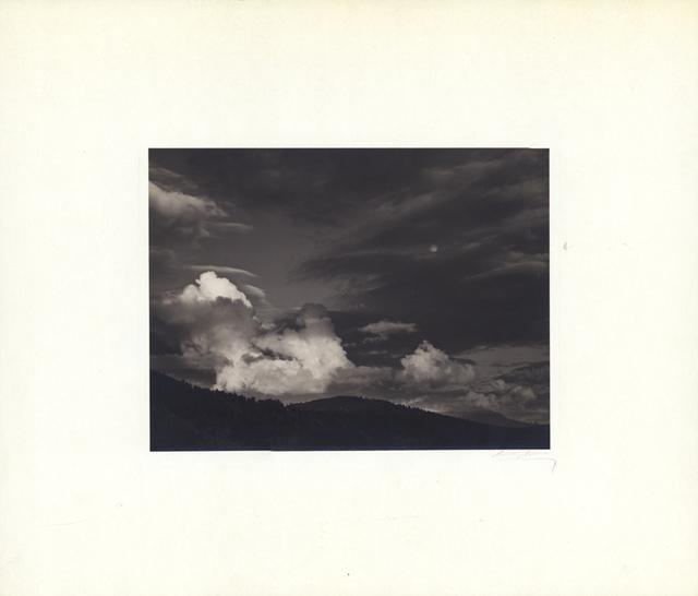 Ansel Adams, 'Moon and Clouds, Kern Basin, Sierra Nevada', ca. Circa 1936, Scott Nichols Gallery