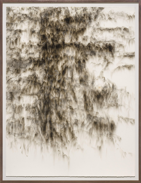 Joan Wulf, 'Carbon 4', 2019, Painting, Carbon soot on paper, Themes+Projects