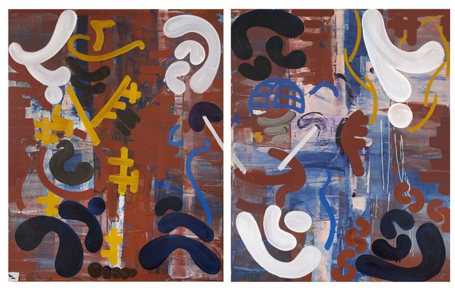 , 'Music 4 (2 panels),' 2014, Flowers