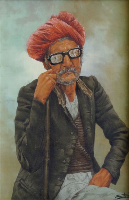 Middle Eastern School, 'Portrait of an Afghani man in sunglasses', Roseberys