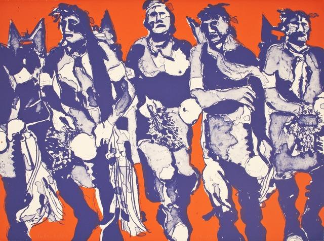 , 'Hopi Dancers,' 1974, Tamarind Institute
