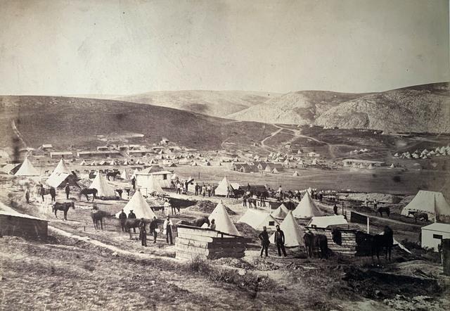 , 'Camp of the 5th Dragoon Guards, looking towards Kadikoi.,' 1855, Roland Belgrave Vintage Photography Ltd