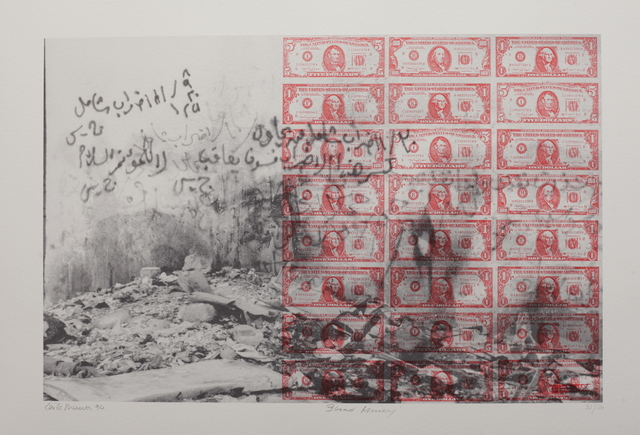 Laila Shawa, 'Of the series Wall of Gaza II: Blood Money', 1994, Gallery One