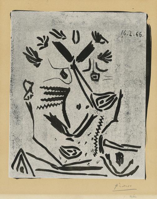 Pablo Picasso, 'Portrait d'homme (Notre Dame de Vie)', 1966, Christie's