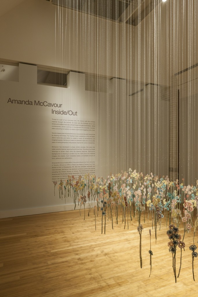 Amanda McCavour: Inside/Out. Installation view at the Virginia Museum of Contemporary Art. Photograph by Glen McClure
