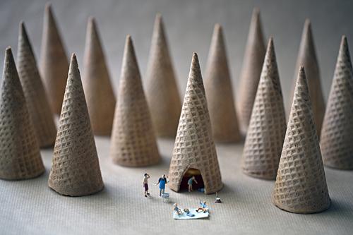 Christopher Boffoli, 'Cone Camping', 2012, Abbozzo Gallery