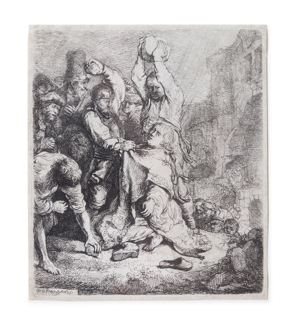 Rembrandt van Rijn, 'The Stoning of St. Stephen', 1635, Hindman