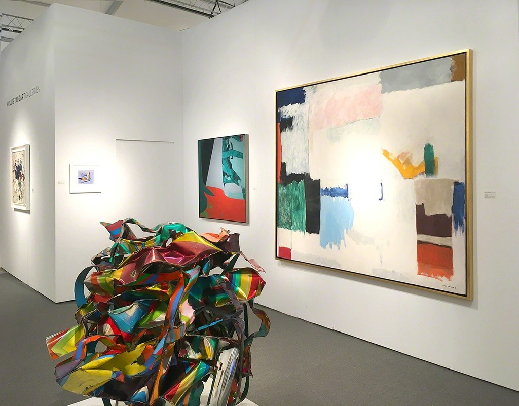 Art Miami Booth C211 - From lef to right: Joan Mitchell, Wayne Thiebaud, John Chamberlain, James Brooks, and Giorgio Cavallon