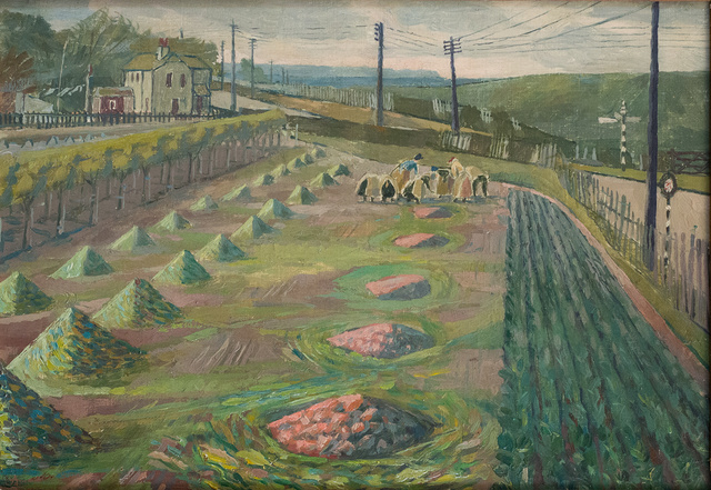 , 'Land Workers at Strood,' ca. 1938, Liss Llewellyn