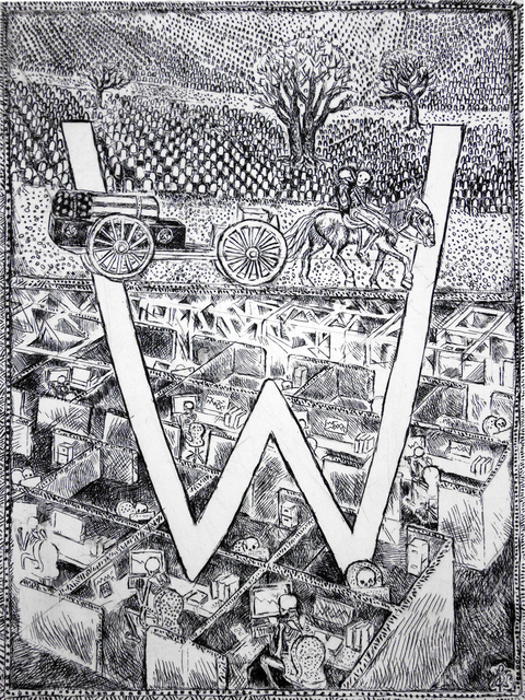 , 'W - Work and War,' 2014, Bert Green Fine Art