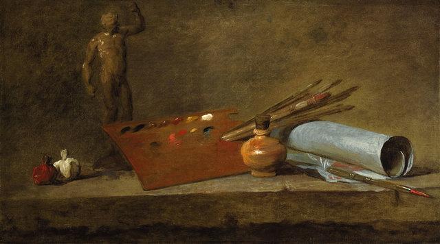 , 'Attributs du peintre (Attributes of the Painter),' 1725-1727, Gagosian