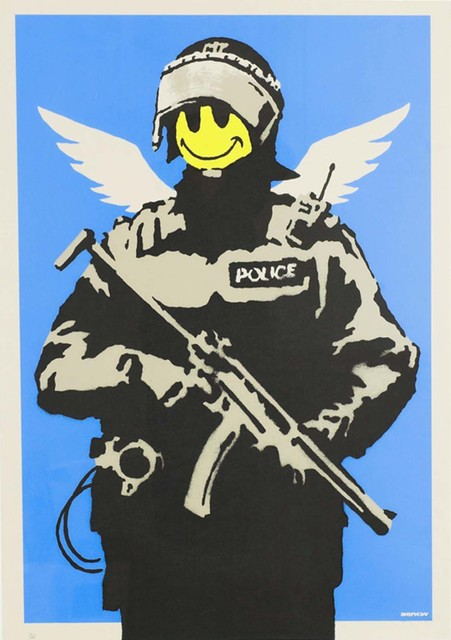 Banksy, 'Flying Copper - Unsigned', 2003, Hang-Up Gallery