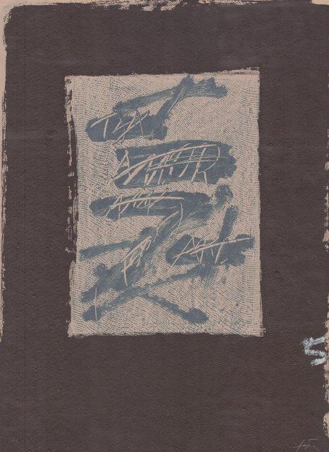 Antoni Tàpies, 'Llambrec material XVII', 1970-1980, ARTEDIO