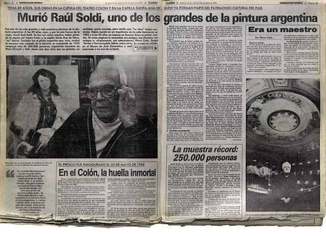 , 'Murió Raúl Soldi,' 2014, Abate Galería