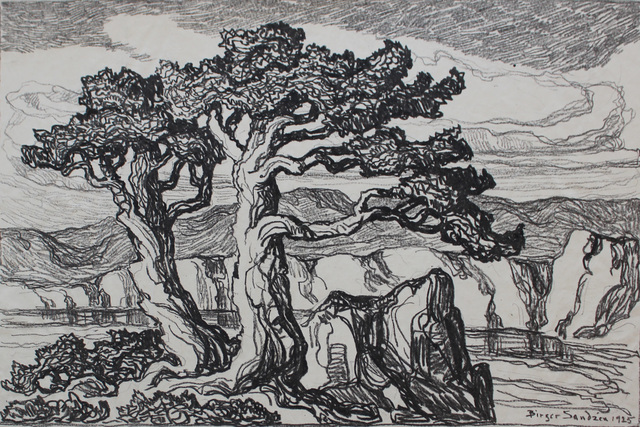 Birger Sandzén, 'Arroyo With Trees', 1925, Kiechel Fine Art
