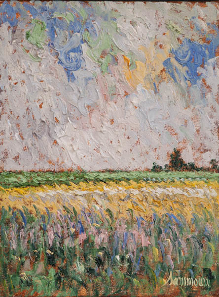 , 'Lavender and Mustard Field,' 2018, Galerie d'Orsay