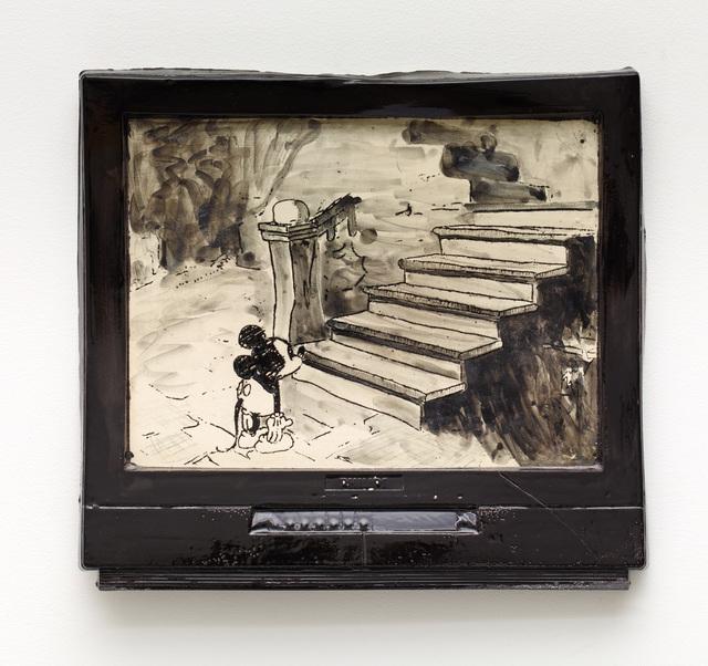 , 'Mickey Looking Up Stairs,' 2016, Diane Rosenstein