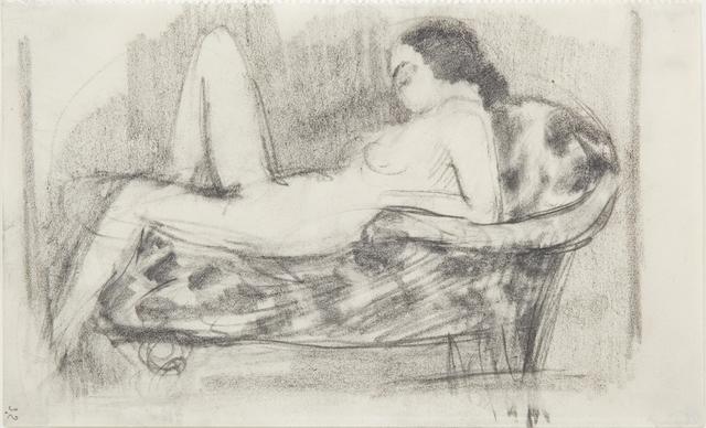 , 'Liegender Akt auf Diwan,' 1910, Galerie Utermann