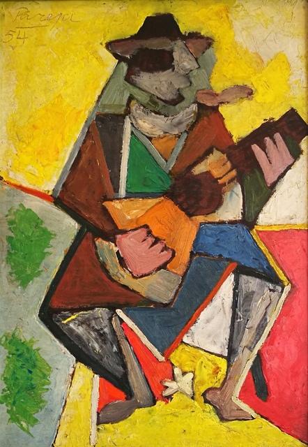 , 'Gaucho con guitarra,' 1954, Galería de las Misiones