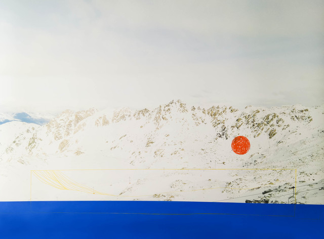 Alice Quaresma, 'Frozen Lake', 2020, Photography, Acrylic paint and oil pastel over photographic print, PABLO´S BIRTHDAY
