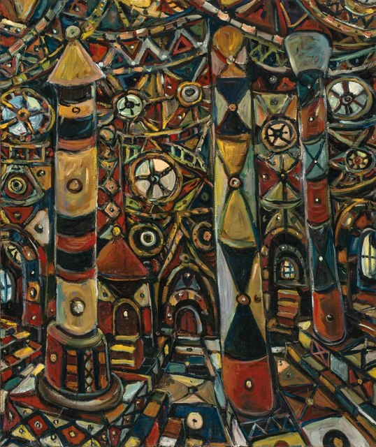 Chuck Connelly, 'Cathedrale 14', 2004, Painting, Oil on canvas, Doyle