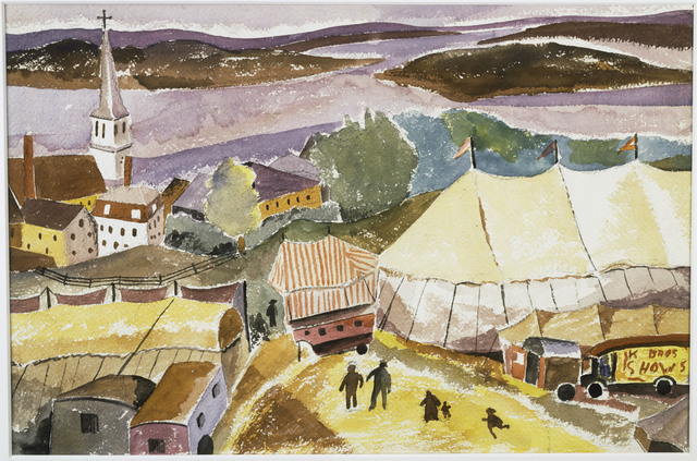 Hugh Collins, 'The Circus Comes to Treport', Date unknown, Phillips Collection