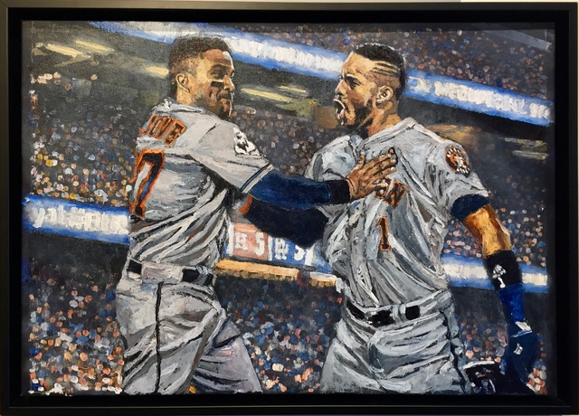 , 'Correa and Altuve Back to Back, World Series Game 2,' 2018, Off the Wall Gallery
