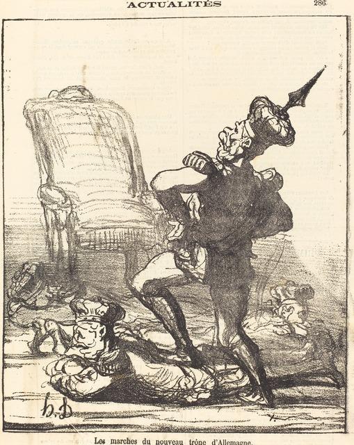 Honoré Daumier, 'Les marches du nouveau trone d'Allemagne', 1871, National Gallery of Art, Washington, D.C.