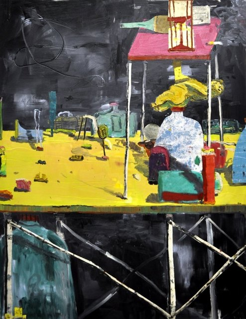 , 'die venus zwischen den tischen,' 2015, Galerie Mikael Andersen
