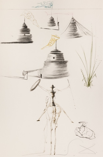 Salvador Dalí, 'Tristan and Iseult : The Camp of King Marc', 1970, Print, Etching on paper, Samhart Gallery