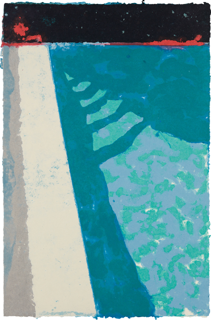 David Hockney, 'Steps with Shadow F (Paper Pool 2)', 1978, Phillips